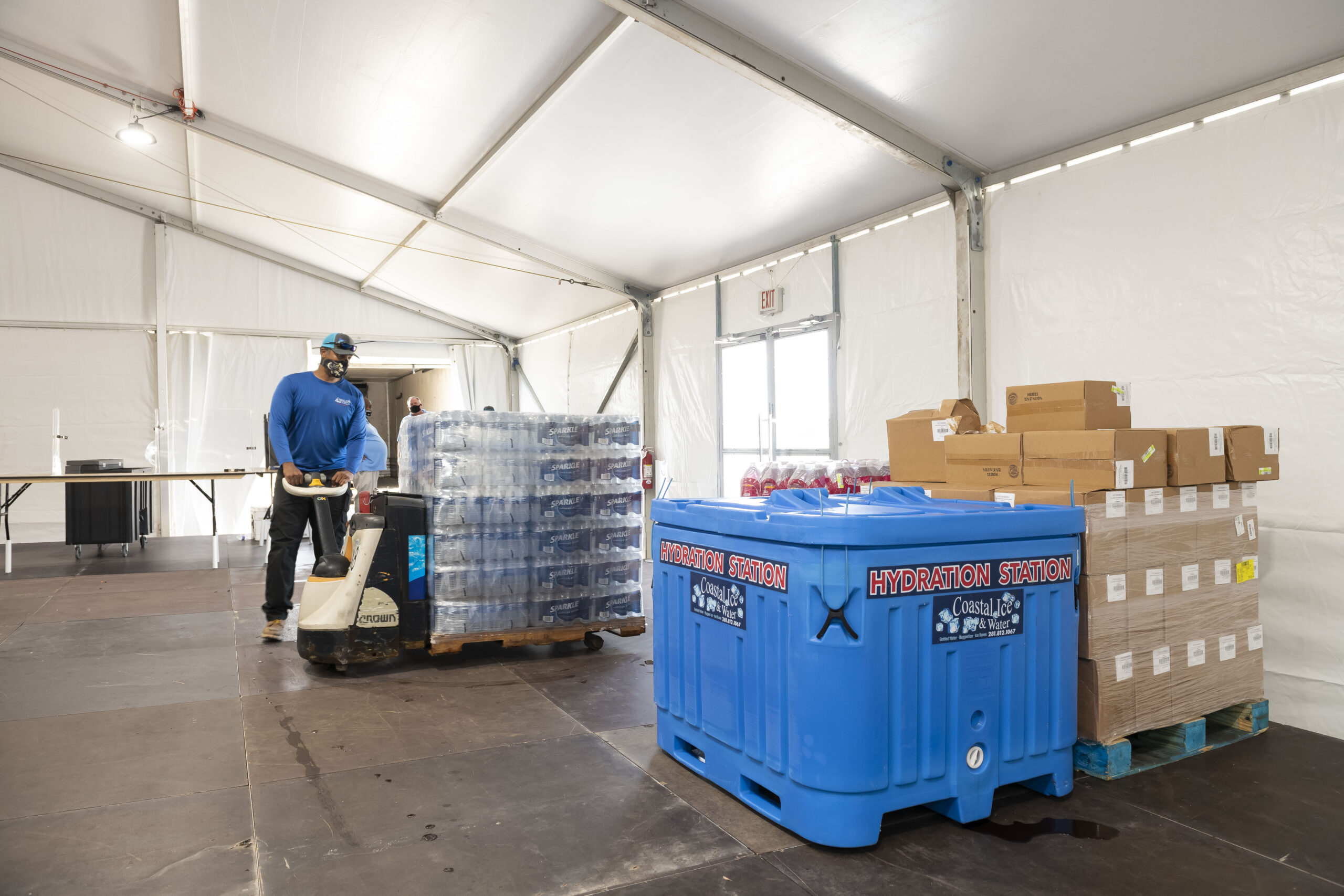 Lodging Solutions/Industrial Tents Potable Water Supplies for Disaster Relief