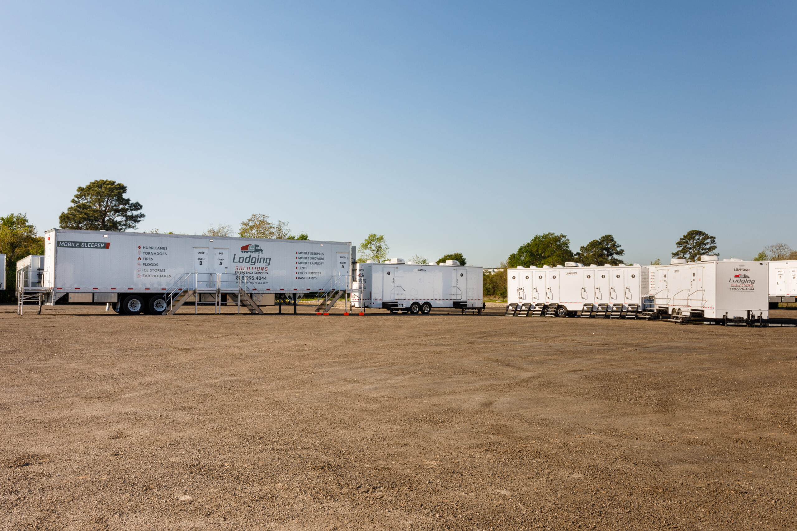 Lodging Solutions/Industrial Tents Mobile Trailers for Emergency Relief